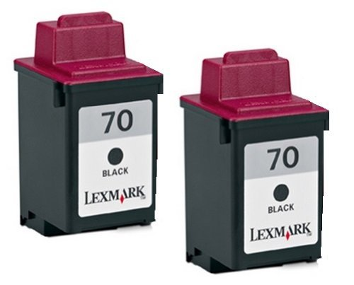 70 Twin Pack (Lexmark 15M1330 #70 Black Ink Cartridge Twin Pack for the 12A1970 by Lexmark)