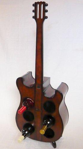 DanDiBo Weinregal Flaschenregal Flaschenständer E Gitarre aus Holz 102 cm Nr. 1859