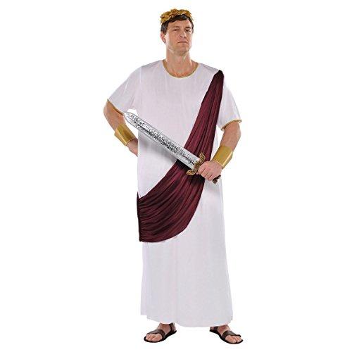 Caesar Kostüm Zubehör - AMSCAN Augustus Caesar Halloween-Kostüm für Herren, Übergröße, mit Zubehör
