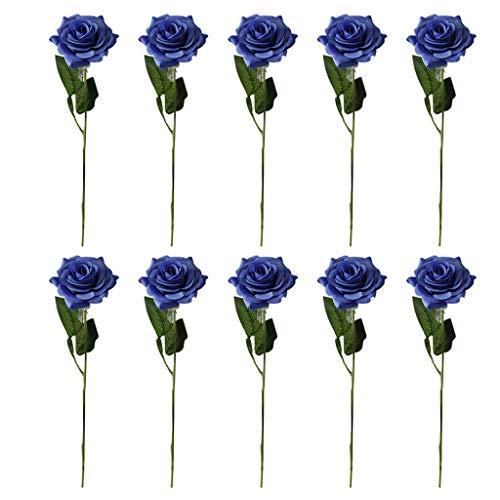 Nelke Heiße Schokolade (DQANIU- Hängende Girlande, 10PCs künstliche Rose Real Bridal Wedding Bouquet-Inneneinrichtung-Bunte Dekor-Blume)