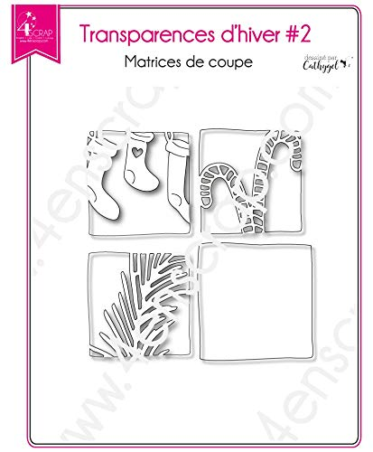 Cutting die Scrapbooking Card making branch christmas sock candy cane - Winter transparencies 2
