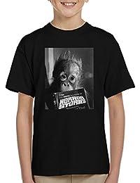 Orangutan Reading Horror Stories 1974 Kid's T-Shirt