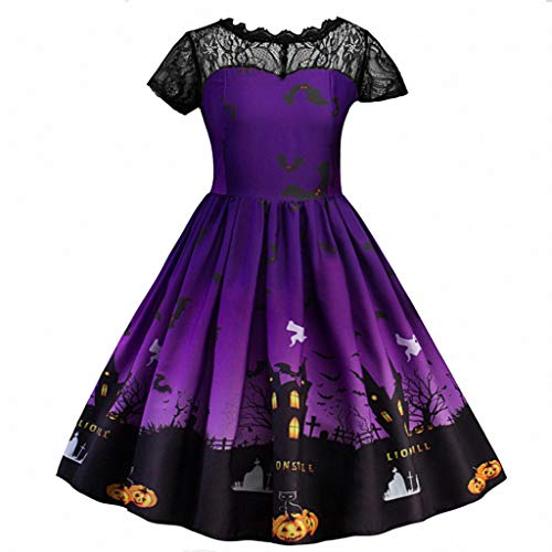 Teen Girl Kostüm - Kostüm Halloween Girl Kind Lace Shirred Printing Kleid Party Kostüm Kleidung Teen Rock 5-8 Jahre Ceremony Style by QinMM