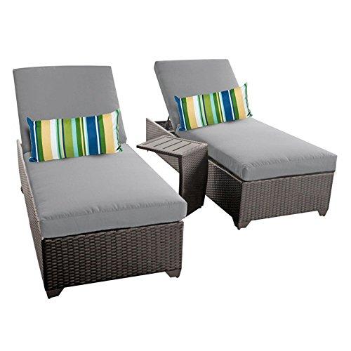 TK Classics Classic Outdoor Rattan Patio Chaise Möbel mit Beistelltisch