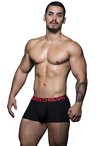 Andrew Christian Herren Boxershorts Fast Naked Tagless Baumwolle - Schwarz - Large - Andrew Short