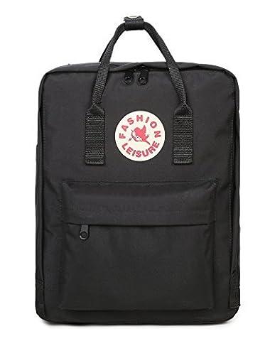 Tibes große oxford Laptop-Tasche leichte Rucksack für Studenten Schwarz