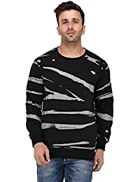 Vivid Bharti Black Round Neck Full Sleeve Printed Sweatshirt