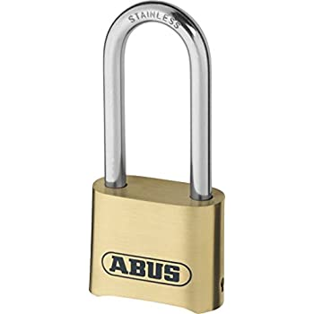 ABUS 180Ib/50Hb63 Long Shackle Combination Brass Padlock