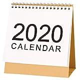 Calendario da Tavolo, Calendario da scrivania, Design Semplice Stand up Calendario da scrivania in Carta per Insegnante, Famiglia o Ufficio Commerciale, 2019.09-2020.12