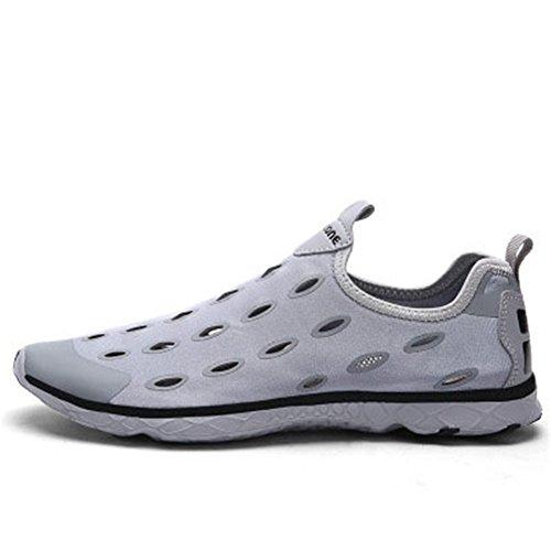Sgoodshoes Chaussures d'eau Water Shoes Chaussons pour Sport Aquatique de plage pour femme et homme Gris