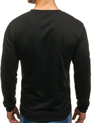 BOLF Herren Pullover Sweatshirt Langarmshirt Sport MIX Schwarz_9035