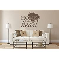 Wandtattoo Home Is Where Your Heart Is Nr 3 Wandsticker Wanddeko Zuhause  Wandbilder Wohnzimmer Wanddekoration Wandaufkleber