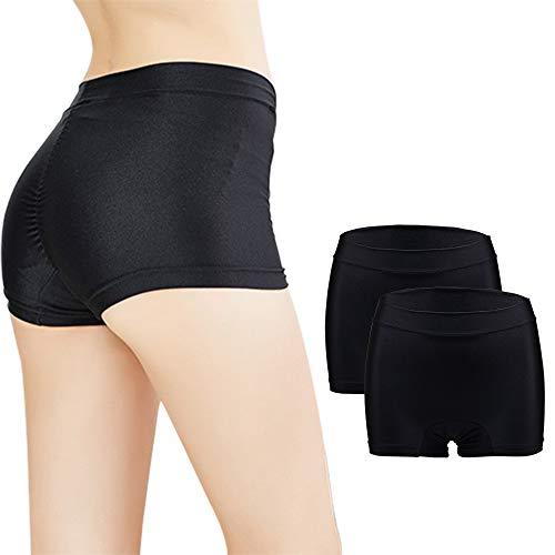 ZEVONDA Damen Menstruations Höschen - Nahtloseraus Spitze Slip Strecken Auslaufsichere Protective Hipster Panties Unterwäsche 2Pack (Menstruation Höschen)
