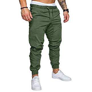 JiaMeng Pantalones De Carga PantalóN De Trabajo De Combate para Hombres Pantalones Largos de pantalón de Trabajo Multibolsillos sólidos al Aire Libre Ocasionales