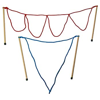 Kidzmedia – 2 Paar Stäbe (33cm lang) Riesenseifenblasen klein/ multi + Pulver für 5L, Holz, Seifenblasen Set