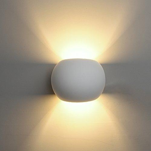DECKEY Lampada Da Parete In Ceramica, Illuminazione Decorativa In Gesso Applique LED Up Down, Luce Effetto Interno Linee Di Disegno Moderno Semplice (02)