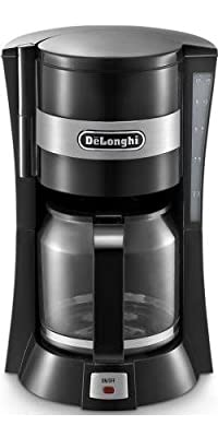 Delonghi ICM15210.1 900 Watts 1.2 Litres Filter Coffee Machine Maker in Black by Delonghi
