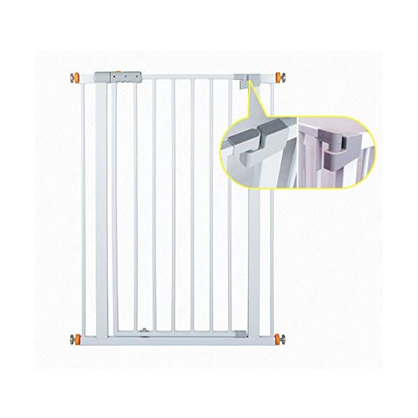 Child safety gate bar baby stair door pet dog fence indoor large dog stairs barrier fence AA-SS-Safety Door ♥Squeeze and lift handle for easy one handed adult opening ♥Quick-release fittings for removal when not required ♥Includes stop pins for mounting at the top of stairs 5
