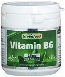 Vitamin B6, 25 mg, extra hochdosiert, 180 Tabletten - für mehr Energie. Wichtig für Blutbildung und Immunsystem. OHNE künstliche Zusätze. Ohne Gentechnik. Vegan.