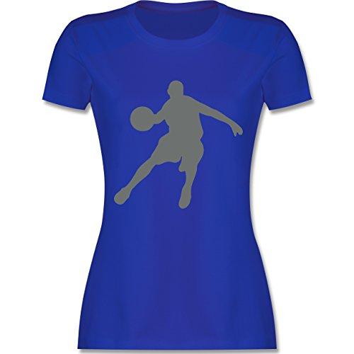 Basketball - Basketballspieler - tailliertes Premium T-Shirt mit Rundhalsausschnitt für Damen Royalblau