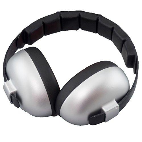 BabyBanz GBB010 Baby-Gehörschutz, 0-2 Jahre, mit extra weichem Kopfbügel, silver