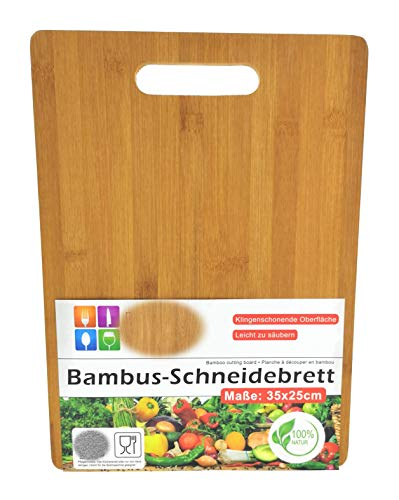 MC Trend Bambus Schneidebrett Frühstücksbrett Vesper-Brotzeit-Brettchen Set Schneidunterlage Frühstück Brunch Speisen (1 Stück Schneidebrett) 1 Frühstück-set