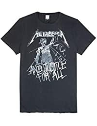 cae81b38e Official Amplified Metallica Justice for All Mens T-Shirt Charcoal