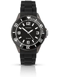 Sekonda Boys/Youth's Black Silicon Strap Watch Black Dial 3390