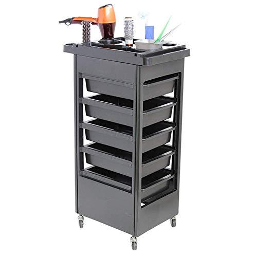 lquide 6 Tier ABS Salon Warenkorb Roll Lagerung Friseurwagen mit Haarfarbe Schubladen für Spa Friseur Beauty Barber Massage -