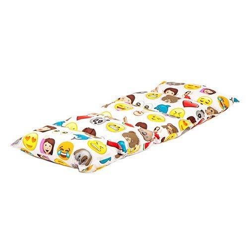 childrens-emoji-emoticons-print-folding-pillow-sleepover-nap-mat-with-ties