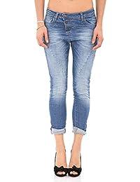 PLEASE - P78 jeans de femme baggy denim bleu