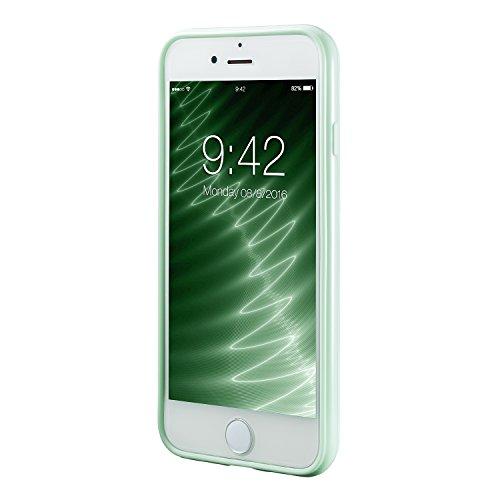 Coque iphone 7&iPhone 8 (4.7 Inch),case cover Etuis en Gel Silicone et TPU Coussin d'air [Anti-rayures] Premium Flexible et Souple pour Apple iphone 7&iPhone 8 bleu claire vert menthe