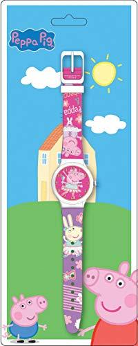 Diakakis 000480974 Peppa Pig, Reloj en Concha