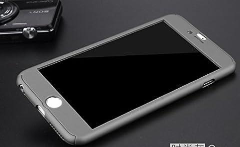 Coque iPhone 6/6S protection totale devant/derrière gris