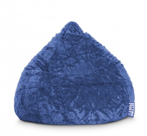 Sitting Point Sitzsack Fluffy XL ca. 220 Liter blau