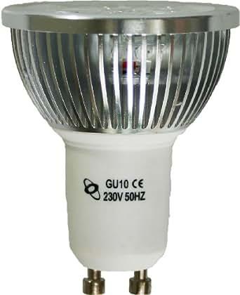 LED GU10 Spotlight 230V 4W (440 Lumen - équivalent de 50 Watts) 7000K, Blanc Froid, 30 degrés