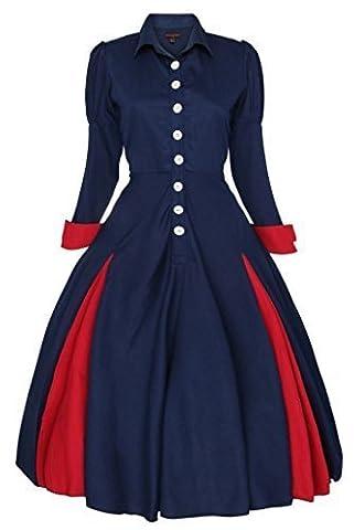 New Ladies Edwardian Vintage 1900's 20's Retro Swing Coat Dress Size 14