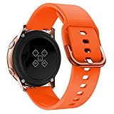 Love+djl+Uhrenarmbänder Silikon Original-Sport-Uhrenarmband for Galaxy Uhr Aktive Smart Watch Bügel for Samsung Galaxy 42mm Uhr-Ersatz New Strap (Color : Orange, Size : Huami Youth 20mm)