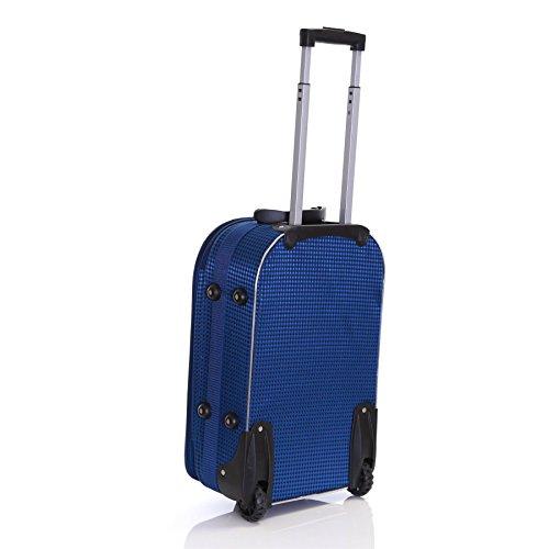 Slimbridge Rennes 55 cm erweiterbar Koffer mit 3 Jahren Garantie, Schwarz Blau