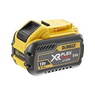 DEWALT DCB547-XJ XR Flex Volt Battery, 18 V, Yellow/Black, Size 9A