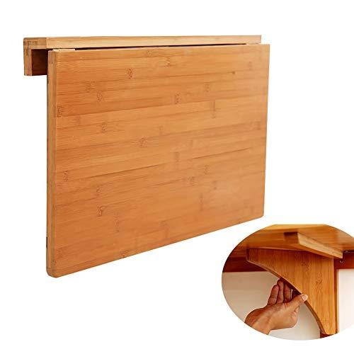 Klapptisch YXX-Wandklapptisch Wandmontage mit Holzhalterung, Hauptküche Esszimmer Wohnzimmer Computer Schreibtisch (größe : 80x45cm) -