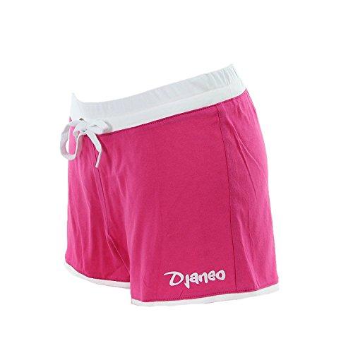 Short de sport Femme Djaneo Rio coton 20 couleurs Rose et Blanc