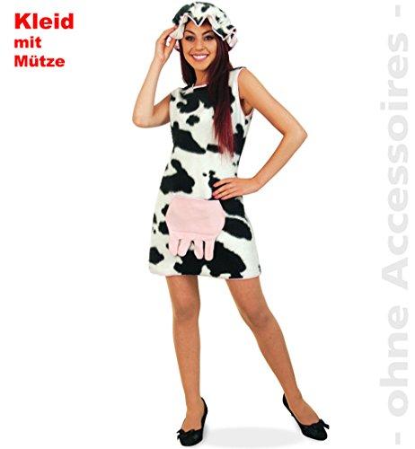 Karneval Kostüm Damen Kuh Elsa Gr. 36 Kuhkleid ()