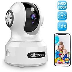 IP Kamera 3MP Überwachungskamera Innen WLAN 1536P HD Home Baby Monitor mit Intelligent Bewegungserkennung Nachtsicht 2-Wege-Audio Unterstützt Fernalarm und PTZ Mobile App Kontrolle