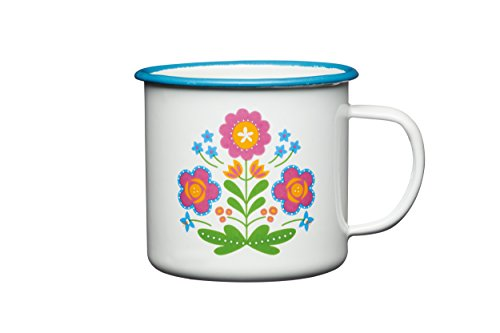 kitchen-craft-coolmovers-romany-summer-floral-enamel-mug-375-ml-05-pint-white