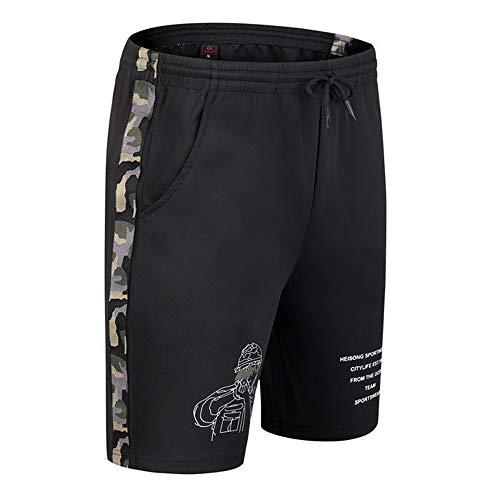Aiserkly Herren Beiläufig Shorts Baumwolle Sport Jogger Regular Fit Sommershorts, Elastische Taille Brief Kurze Hosen -