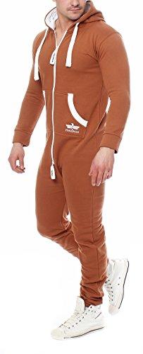 Finchman Herren Jumpsuit Jogger Jogging Anzug Trainingsanzug Overall Camel