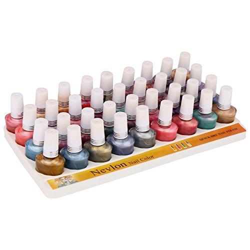 Nevlon Multi-Color Glossy Nail Polish Set of 36(180 ML)