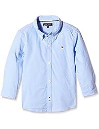 Tommy Hilfiger Jungen Hemd Solid Oxford Shirt L/S