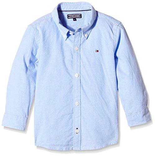Tommy Hilfiger Jungen Hemd SOLID OXFORD SHIRT L/S, Gr. 98 (Herstellergröße: 3), Blau (Light Blue 050)